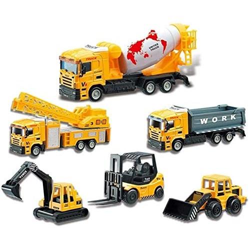 Zhangl 6Pcs Construction Vehicle Toy Car SetEducational Military Truck 6 Pcs Truck Toy Kit