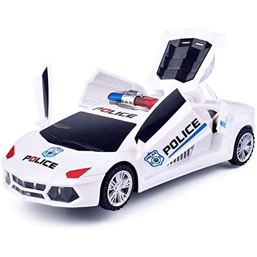 Zhangl Electric Four-Wheeled Police Cars Music Glow 360 Degree Rotating Stunt Vehicle with Automatic