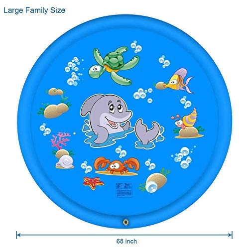 AZUOYI 68 Sprinkler Play Mat Inflatable Water Toys Outdoor Swimming Pool Toys for Babies