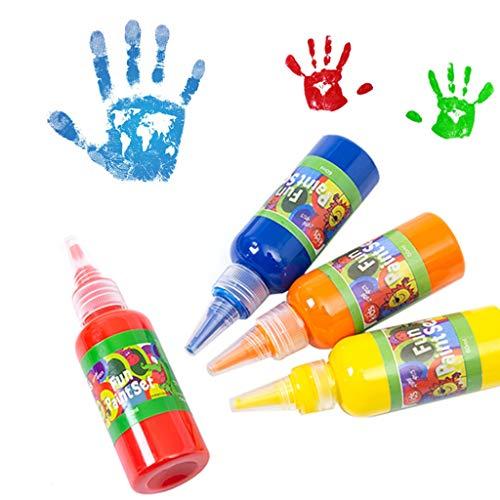 Yamart Liquid Watercolor Paint 12 Color 60ml Non Neon Washable Finger Paints Set Non-Toxic Kids Educatioanl School Art Supplies for