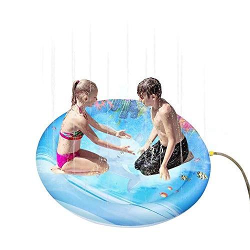 ACEWD Children's Sprinkler Pool 40''/67''Splash Pad Summer Outside Water Toys Outdoor Swimming Wading Pool