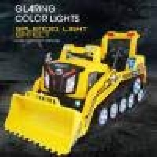 OKBOP Pretend Play Bulldozer Toy 24G RC Realistic Bulldozer Car Manned Construction Truck with