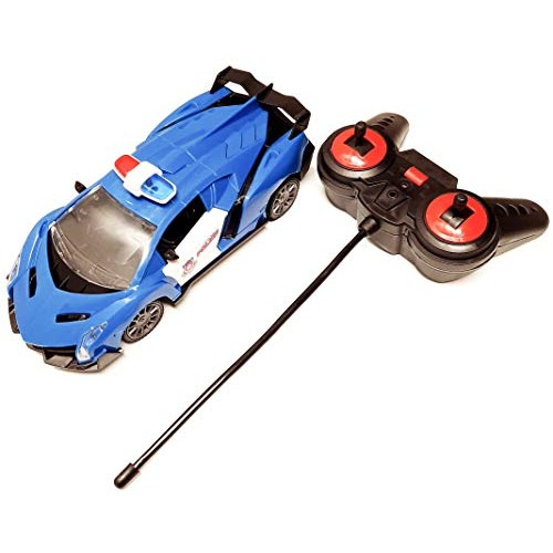 JFF Remote Police RC Car 1:20 Scale Toy with Working Headlights Police Lights+Sound Open