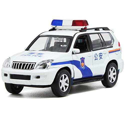 N-R RUxuean1 1/32 Simulation Police Car Sound Pull Back Vehicle Model Toy Xmas Gift