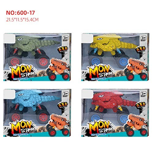 N-R RUxuean1 Dinosaur Monsters Truck Pull Back Car Model Children Educational Toy Xmas Gift