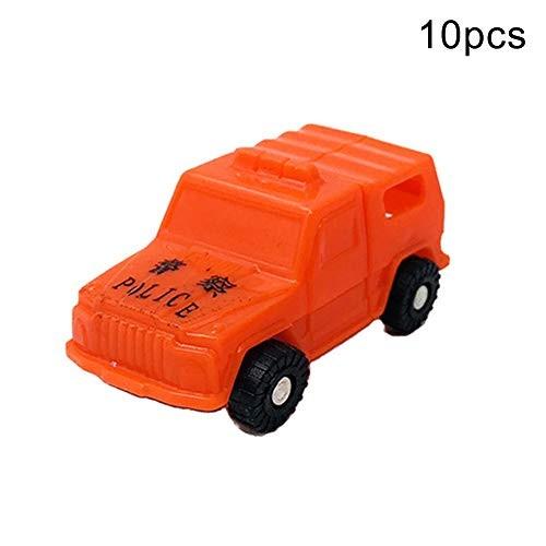 N-R RUxuean1 10Pcs Mini Transformation Inertial Car Robot Deformation Model Toy Children Gift for