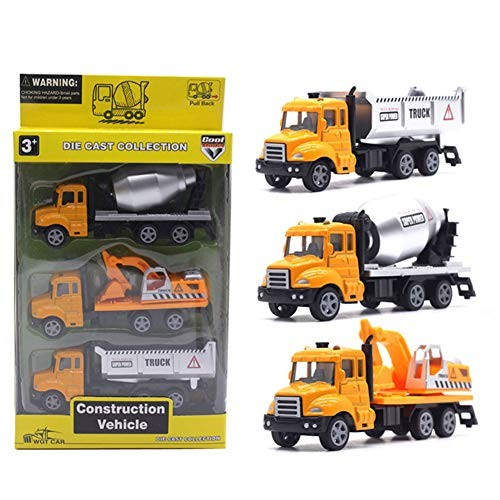 N-R RUxuean1 3Pcs 1/50 Toy Cars for 2 Year Old Boys Simulation Transport Fire