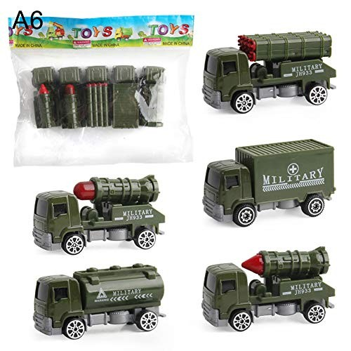 N-R RUxuean1 5Pcs/Set Diecast Alloy Vehicles Car Inertia Toy Educational Toy for Kids Children