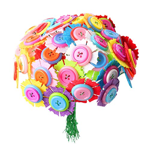 120PCS Kids DIY Arts and Crafts Supplies Kit Button Felt Bouquets Fun Crafting Activity Gifts for Boy Girl