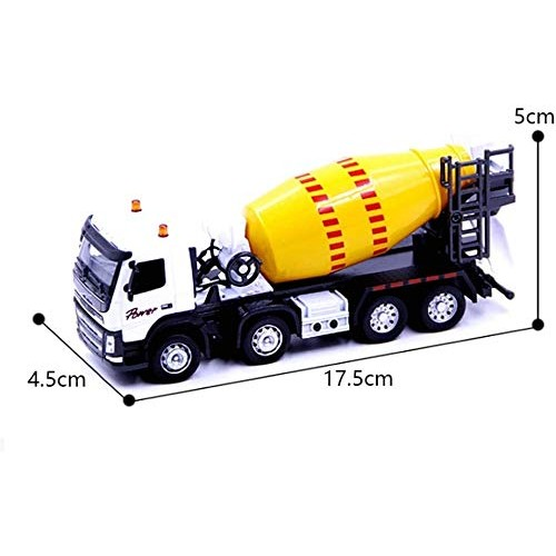 Zeyujie Jewelry Collection Cement Concrete Toy car Simulation Sound and Light Engineering car Metal