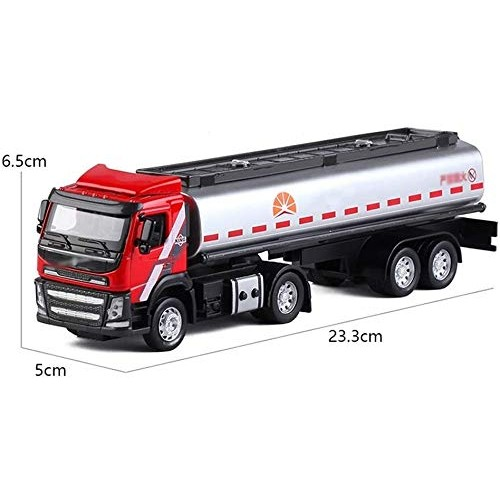 Zeyujie Alloy Oil Tanker Oil Transportation Vehicle Toy car Alloy Taxi Toy car Natural
