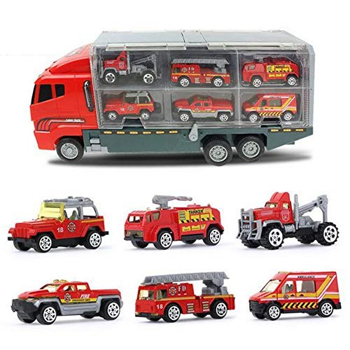 ZH Toy Truck Toys for Boys and Girls Toy Cars 6 in 1 Engineering