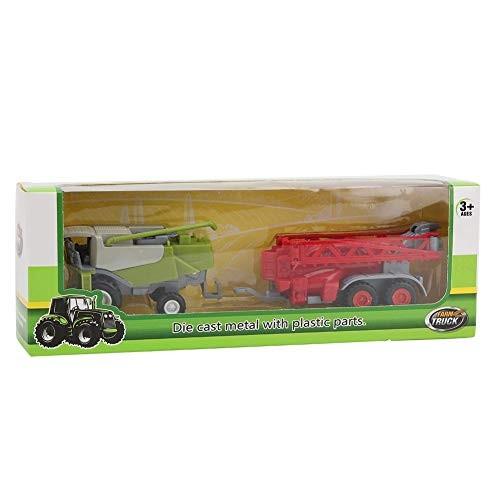 Qinlorgo Agricultural Vehicle Model 23Cm Alloy Agricultural Tractor Vehicle Model Children's Car Toy(#1)