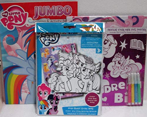 DBK Gifts Coloring Book Gift Set - My Little Pony Design Your Own Foil  Poster And Pop Out Grab Bag With Stickers - Educational Toys Planet