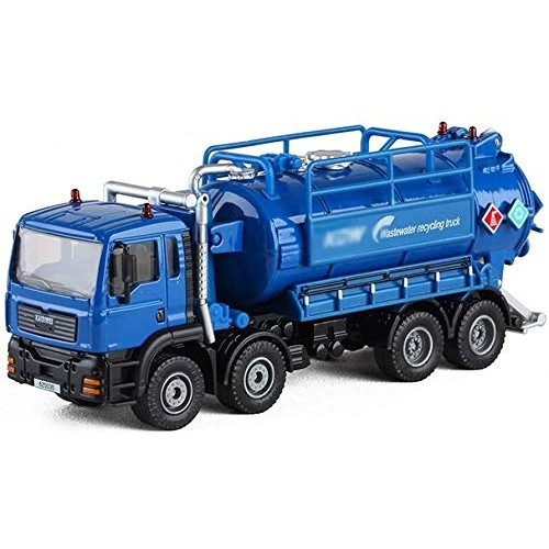 Zeyujie Waste Water Recovery Transport Vehicle Children's Toy Iron car 1:50 Simulation Environmental Sanitation