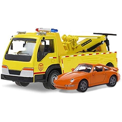 Zeyujie 1:50Alloy Engineering car Model Road Wrecker Rescue Rescue car Trailer Sound and Light