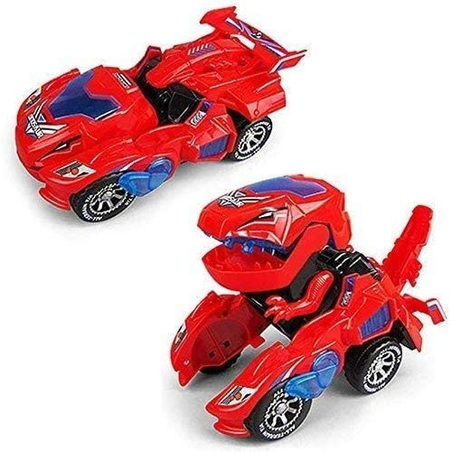 ZHLFDC LED Car Children Dinosaur Toy Dinosaur Deformation Expedition Electric Deformed Dinosaur Car Universal