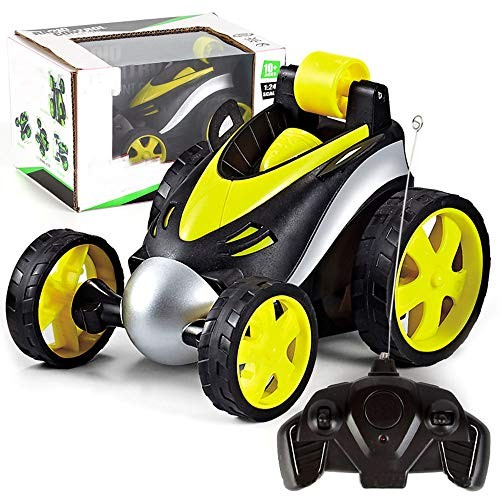 SSRSHDZW Wireless Remote Control Car Rollover Stunt Car Dump Truck Boys and Childrens Electric