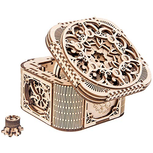 3D Wooden Puzzle Box DIY Craft Kits Assemble Model for Adults Building Kit Kids Ages 12-14 Educational Toy Birthday Gift and Teens