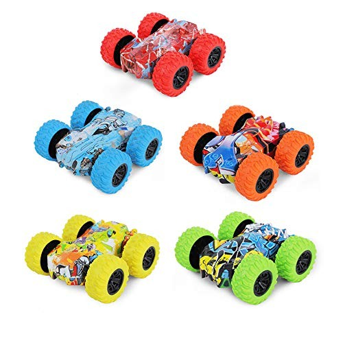 JMFHCD Kids Inertia Car Four Wheel Off Road Vehicles Toys Truck Educational Toy Pull