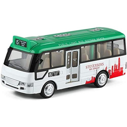 Zeyujie Travel Music Bus Alloy Sound and Light Pull Back Boxed Airport CMB Children's