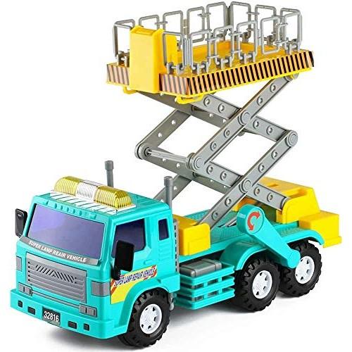 Zeyujie Children's Toy Large Inertia Engineering Vehicle Lift Ascending car inertial car Street Light