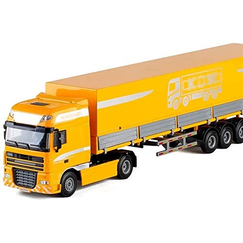 Zeyujie Engineering Series 1:50 Heavy-Duty Flatbed Transporter Container Cloak Big Truck Simulation Alloy car