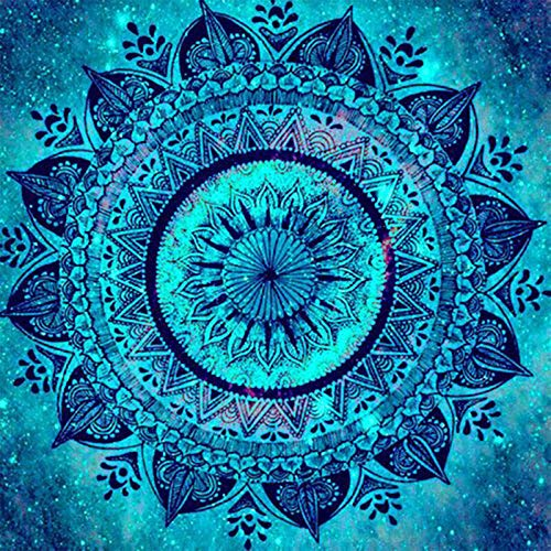 DIY 5D Diamond Painting Kit Round Full Drill Embroidery Cross Stitch Arts Craft Canvas Supply for Home Wall Decor GiftMandala-16x16in