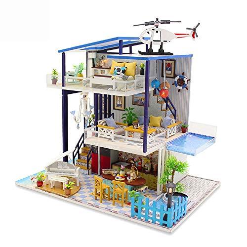 YADSHENG Kid Play Tent DIY Miniature Room Set-Woodcraft Construction Kit-Wooden Model Building Set-Mini House Craft Tents Color Multi-Colored Size 40x34x11cm
