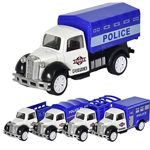 TOYANDONA 5pcs 1:55 Mini Car Models Pull Back Car Toys Educational Toys Race Car