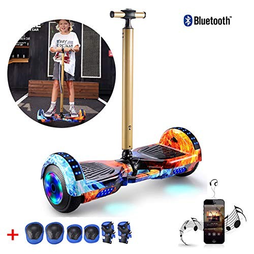 Hover Scooter Board 7 Self Balancing Electric Scooter Added Portable Design and Adjustable Safety