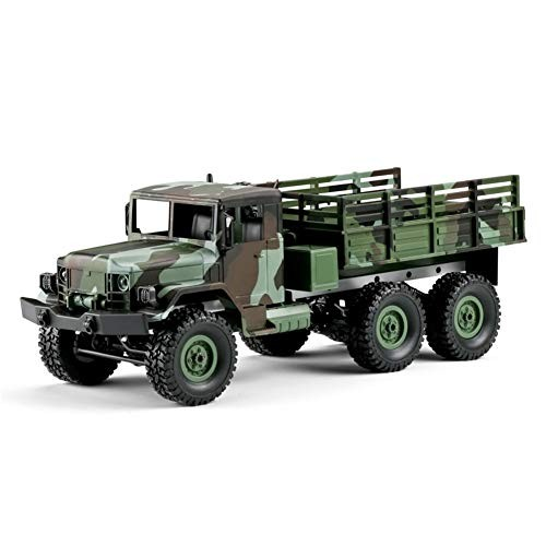 1/16 24g 4wd Car Light Camouflage Militarial Off-Road Truck Kids Toy