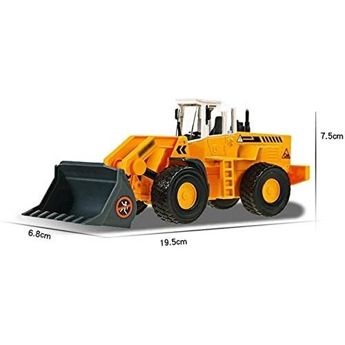 Zeyujie 1:50 Engineering Truck Large Bulldozer Forklift Model Alloy Engineering Simulation Loading Children's Toy