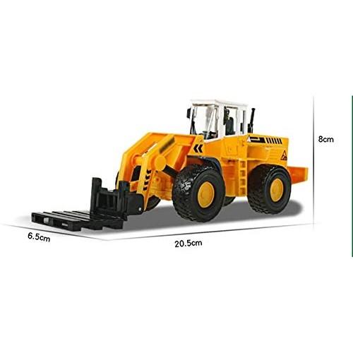 Zeyujie Alloy Skid Forklift Truck Engineering Vehicle Simulation Model Toy 1:50 Large Forklift Warehouse