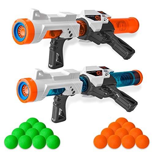 Zac-T 2 PCS Power Popper Gun Foam Ball Air Powered Shooter Toy Guns Foam