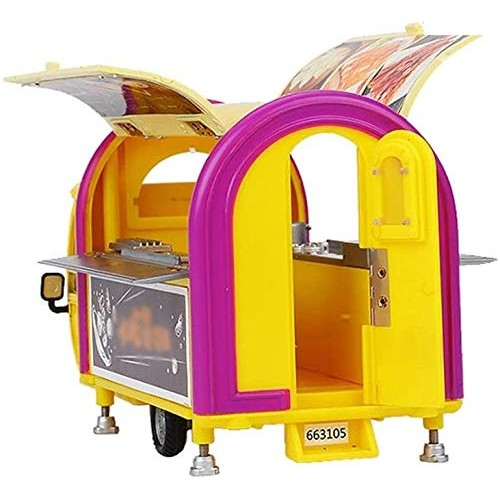 Zeyujie 1:20 Alloy car Model Multi-Door Three-Wheel Mobile Barbecue Snack car Play Scene Children's