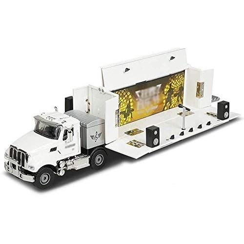 Zeyujie 1:50 Simulation Mobile Stage car Model Foldable Open Alloy Deformation RV Toy car
