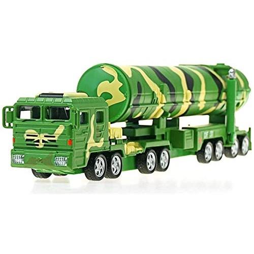 Zeyujie 1:64 Alloy Military Model Dongfeng intercontinental Ballistic Missile Model Launcher Truck Children Toy
