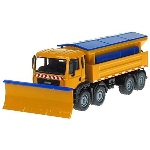 Zeyujie Alloy Engineering Vehicle Snow Shovel 1:50 Snow Truck Sliding Simulation car Model Collection