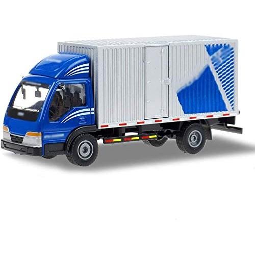 Zeyujie Alloy Model 1:50 Van Transport Postal Truck Metal Express car Toy Closed Box