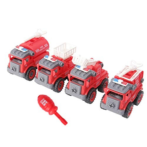 NUOBESTY Disassembly Car Toy Take Apart Car Playset Funny Auto Disassembly Engineering Car Toy