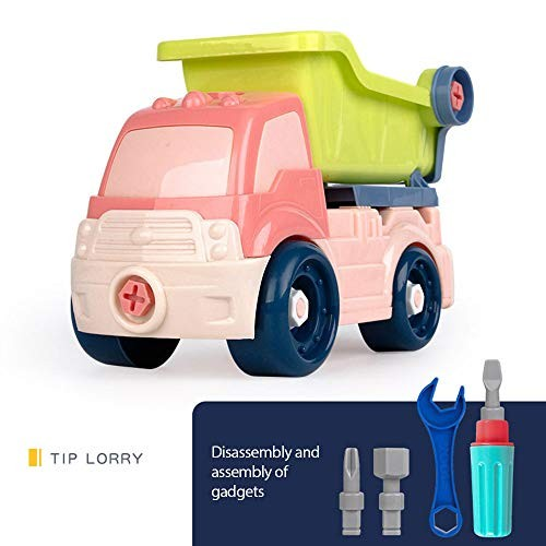 XUXN DIY Mini Engineering Car Model Toy Cartoon Push and Go Car Tractor Bulldozer