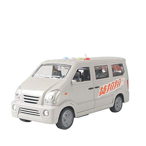 AIOJY Sound and Light Van Toy Three-Door Inertial Business Car Small Truck Simulation Toy