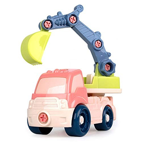 BOOSO Toy Car Mini Engineering Car Model Toy Children Self-Dismantling Excavator Toy Tractor Bulldozer