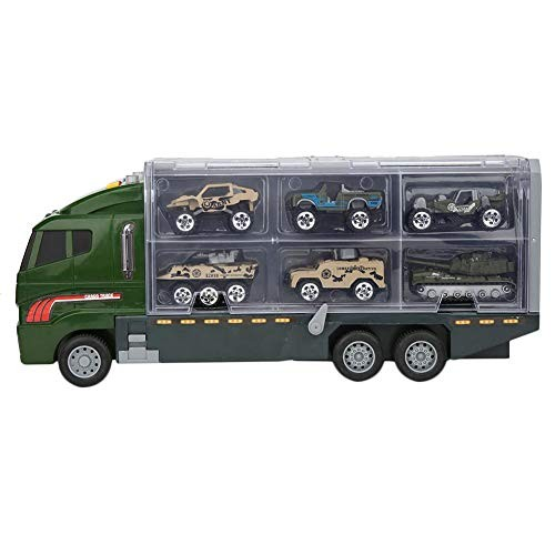 Wear-Resistant Mini Simulation 6 Storage Spaces Alloy Car Model Toy Car Model Vehicle Set
