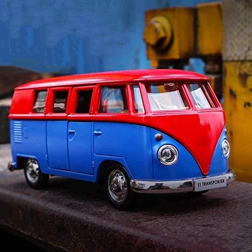 Zeyujie 1:36 He Volkswagen Mini Bus Classic Car Campus Children's Day Toy Alloy Car