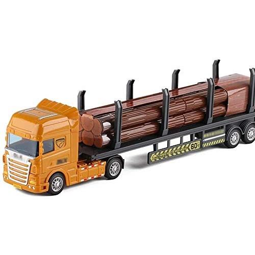 Zeyujie Transport Truck Engineering car Set Simulation Model boy Flat Trailer Toy Collection Ornaments