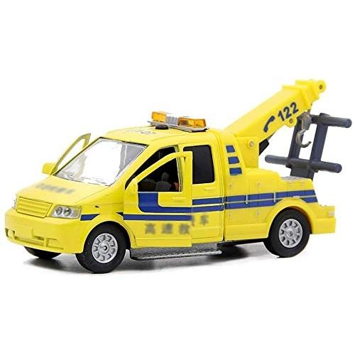 Zeyujie Alloy Model car Toy New City car Series Series Highway Rescue Trailer Children's