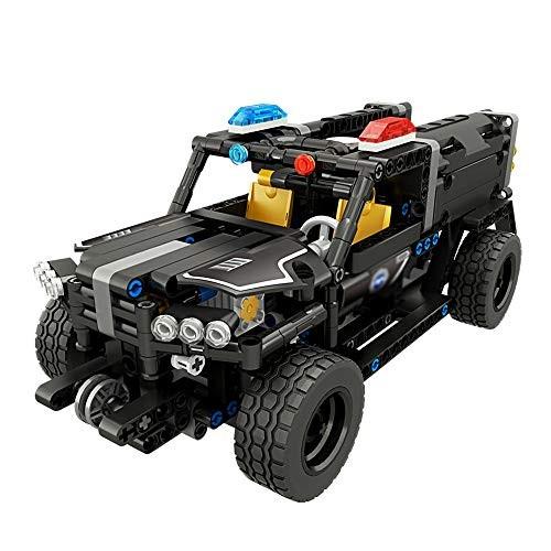 D-F Children's high-speed car 24G Electric Command Vehicle Car Building Block Model Education Kids