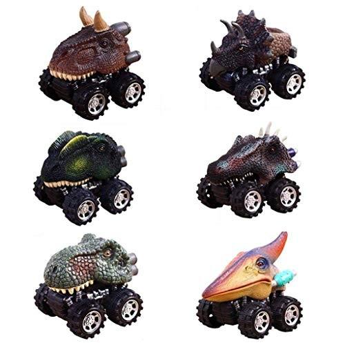 GFHFHITJ 6PC Toy – Dinosaur Model Mini Toy Car Back of The Car Gift